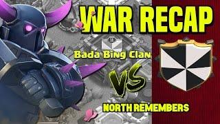 Clash of Clans | CWL War Recap | Bada Bing Clan vs. North Remembers | November 16