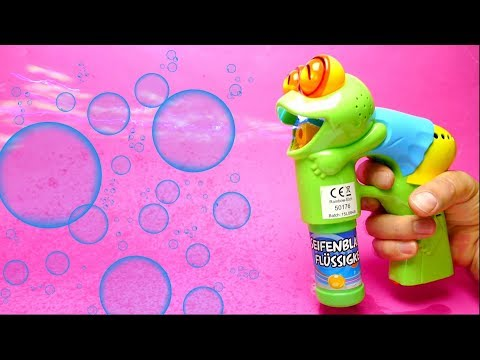 Soap Bubble Gun Toy for Kids with Continuous Streaming Bubbles