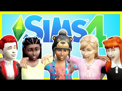 CHILDREN'S SLUMBER PARTY! The Sims 4  [ sleepover mod]