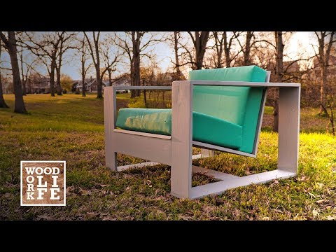 DIY Modern Adirondack Chair - w/ Hidden Bottle Opener & Drink Holder | Woodworking Builds