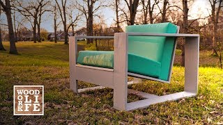 This Modern minimalist Adirondack inspired outdoor chair is an easy DIY project to kick off your summer, I have the full step by...