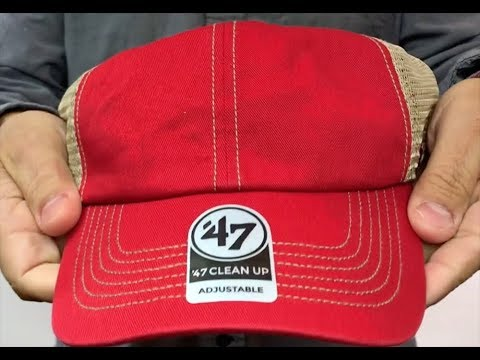 0b595da4c7c 47  BLANK DIRTY MESH SNAPBACK  Red-Tan Adjustable Hat - YouTube