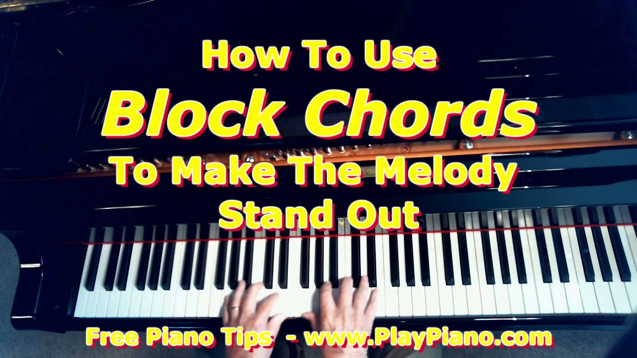 Block Chords On Oh Danny Boy To Make The Melody Stand Out Youtube