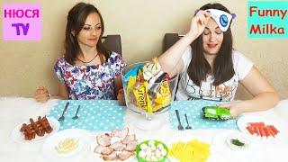 ЧЕЛЛЕНДЖ Обычная еда против сухарей Что вкуснее Инна и Люда Перезагрузка