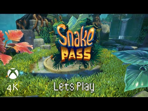 Lazy Lagoons: Part 4, Let's Play Snake Pass (4k | Xbox One X)