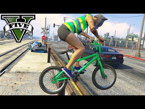 GTA 5 Epic BMX STUNTS #7 (GTA 5 STUNTS MONTAGE)