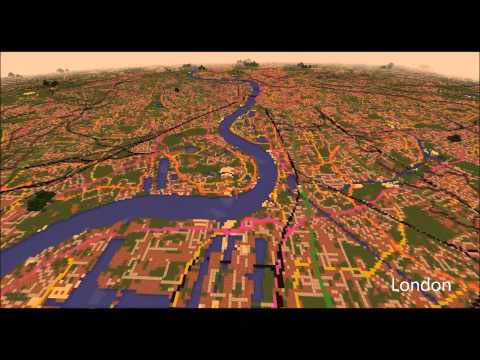 Minecraft Map of Great Britain by Ordnance Survey