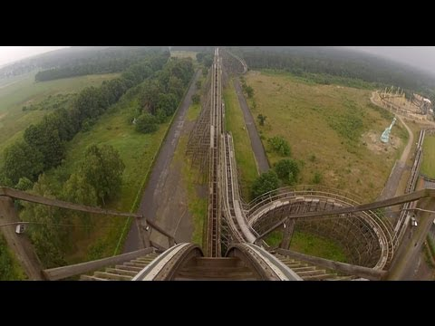 Colossos Complete Roller Coaster POV Heide Park Germany Intamin Woodie