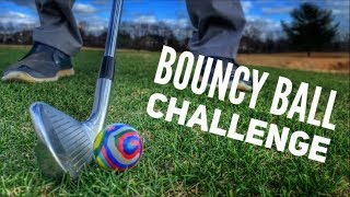 Bouncy Ball Challenge (Playing 3 Holes With A Bouncy Ball)