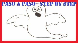 Como dibujar un fantasma l How to draw a ghost l Halloween