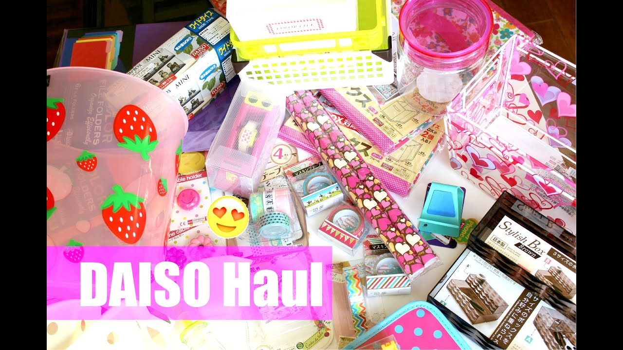 Dollar Store Haul From Daiso - YouTube