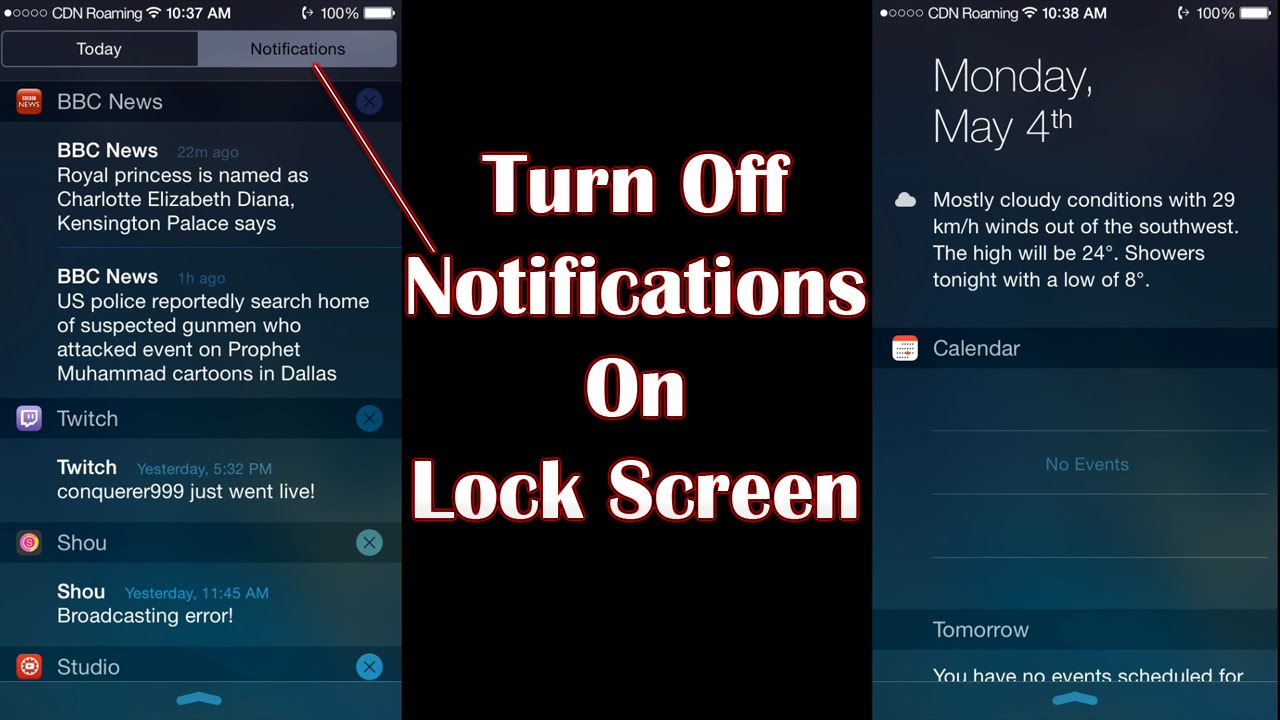 how to turn off lock screen on iphone how to turn notifications on lock screen iphone 6551