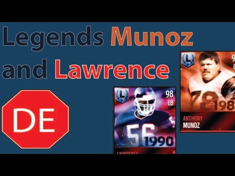 Madden Mobile Legend Set Completion Anthony Munoz Lawrence Taylor