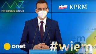 Koronawirus w Polsce. Konferencja prasowa premiera i wicepremierów