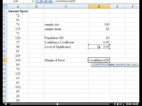 Ediblewildsus  Marvellous Stephens Tutorials Confidence Interval In Excel  Youtube With Excellent Stephens Tutorials Confidence Interval In Excel With Delightful Excel Web Query Parameters Also Microsoft Excel How To Merge Cells In Addition How To Calculate Formula In Excel And What Is Macro Excel As Well As Swap Cells Excel Additionally How To Sum Percentages In Excel From Youtubecom With Ediblewildsus  Excellent Stephens Tutorials Confidence Interval In Excel  Youtube With Delightful Stephens Tutorials Confidence Interval In Excel And Marvellous Excel Web Query Parameters Also Microsoft Excel How To Merge Cells In Addition How To Calculate Formula In Excel From Youtubecom