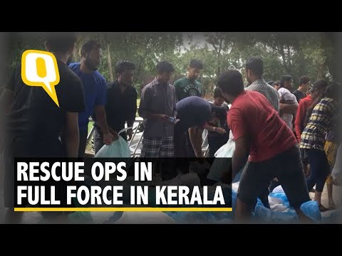 Kerala flood relief: Navy, Air Force choppers and Tamil Nadu Fire and Rescue Services in action