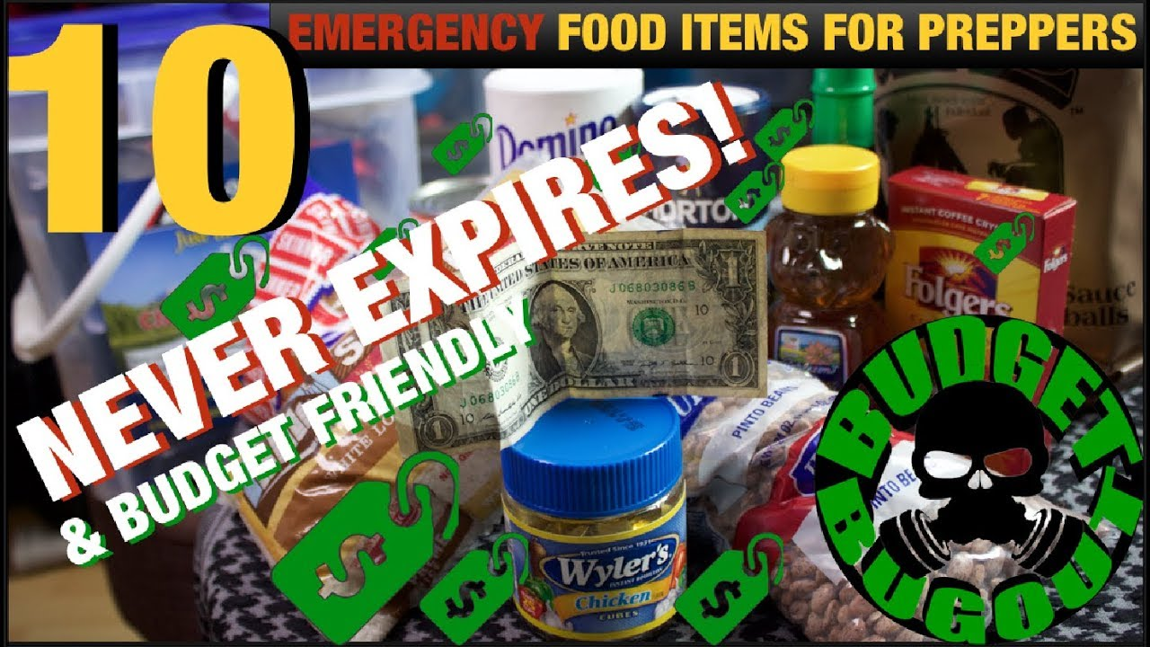 ? 10 BUDGET-FRIENDLY Food Items For Preppers That Will NEVER Expire | Budget Bugout