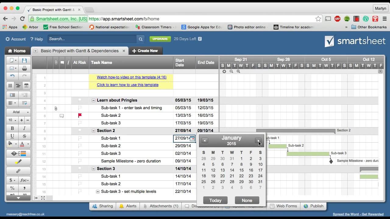 Gantt charts using smartsheet youtube gantt charts using smartsheet nvjuhfo Gallery