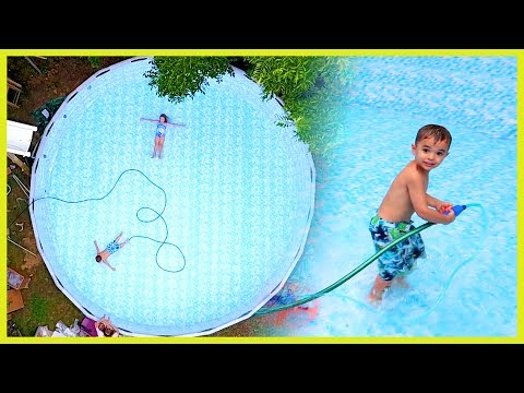 KIDS TRAPPED IN SWIMMING POOL!!