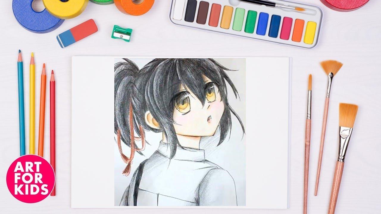 Art for kids ❤ Hướng dẫn vẽ nhân vật truyện tranh, hoạt hình nữ. Art for Kids – Thỏa trí sáng tạo