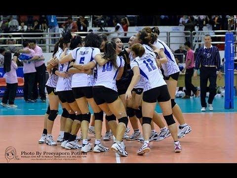 Thailand VS China AVC Volleyball 2013 Semifinal Full Match ...