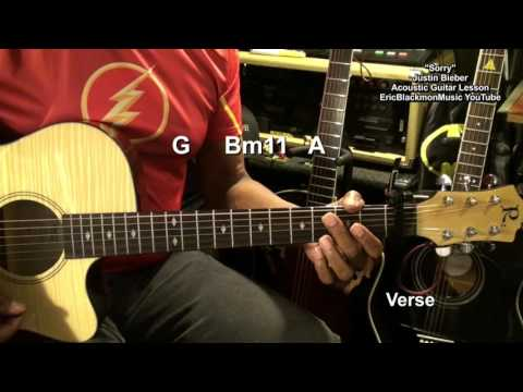 Guitar guitar chords sorry : Justin Bieber SORRY Easy Acoustic Guitar Chords & Strumming Lesson ...