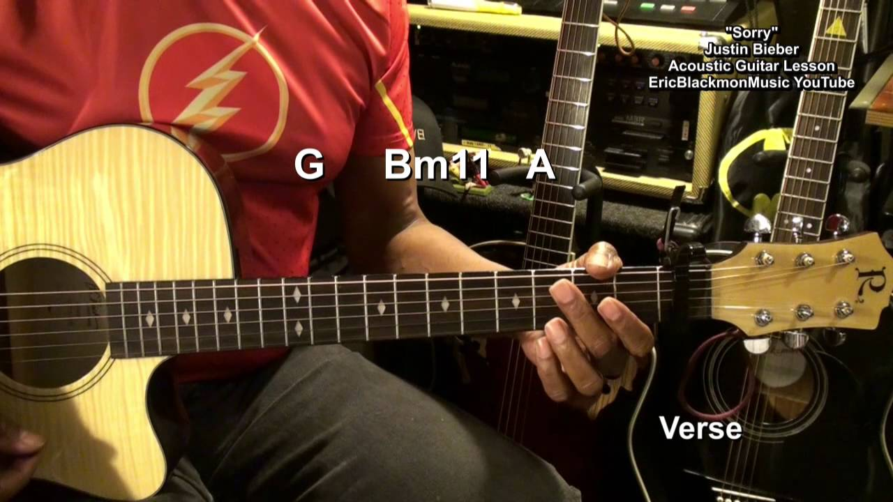 Justin Bieber Sorry Easy Acoustic Guitar Chords Strumming Lesson