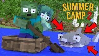 Monster School  Summer Camp Part 2 - Minecraft Animation