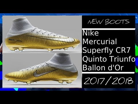 c59dc59475d New Boots Nike Mercurial Superfly CR7 Quinto Triunfo  2017 Ballon d Or by  Manuel Plaza Para PES 2013