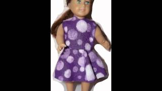 American Girl Doll Mini Clothes Pattern For Free - Cute And Easy To Make Ag