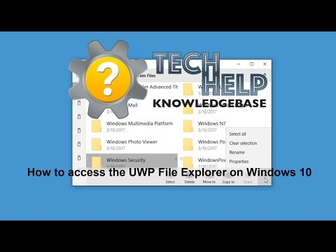 How to access the UWP File Explorer app on Windows 10 | Tech Help KB
