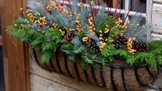 Winter Window Baskets