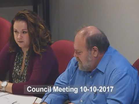 Norwalk Council Meeting October 10, 2017