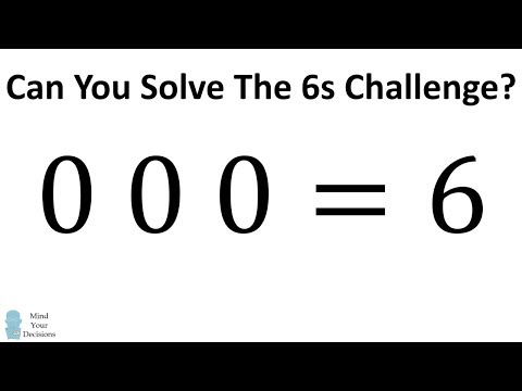 How To Solve The 6s Challenge