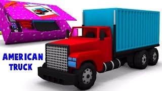american kuorma | kuorma-auton videot | lapset sarjakuva | American Truck | Unboxing For Kids