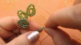 Дерево из бисера | Плетем листочки и веточку | Мастер класс № 2
