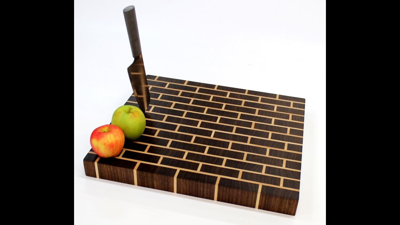 build an end grain cutting board brick wall pattern youtube