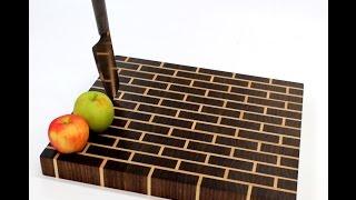 Build An End Grain Cutting Board  - Brick Wall Pattern