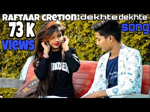 FIRST LOVE STORY || RITIK RAFTAAR FT. MAHEK SINGH || Dekhte Dekhte Cover Song || Motion Graphics
