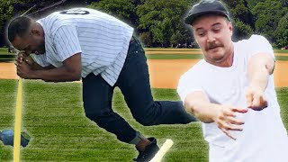 Adults Try Dizzy Bat For The First Time