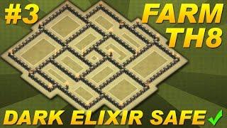 Clash of Clans -Town Hall 8 (TH8) Farming Base BEST Dark Elixir (DE) Protection Design CoC Setup #3