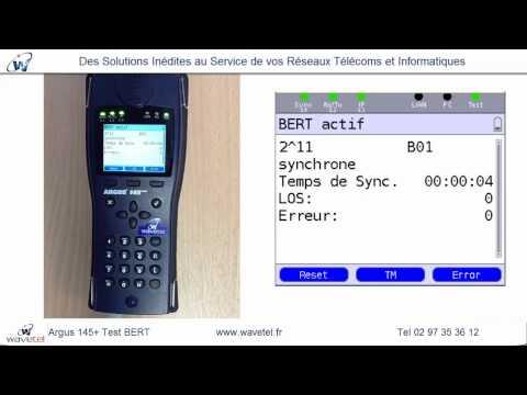 Argus 145 plus Test BERT - Demo WAVETEL - Qualification S0 RNIS et TEST BERT