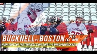 Bucknell vs Boston University | 2015 College Lacrosse Highlights