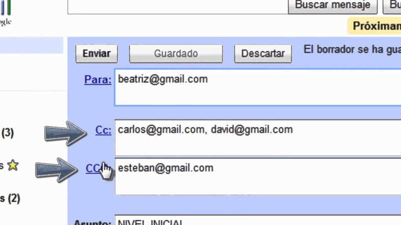 Tutorial n 2 funcionamiento del correo para cc y for Que significa wc