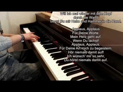 APPLAUS, APPLAUS | SPORTFREUNDE STILLER (Piano Cover with Lyrics on screen)
