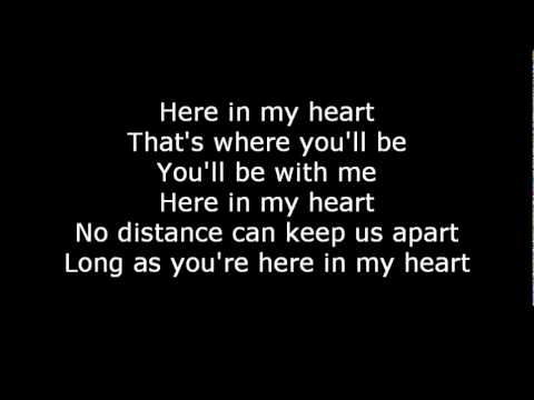 Scorpions-Here in my heart  Lyrics
