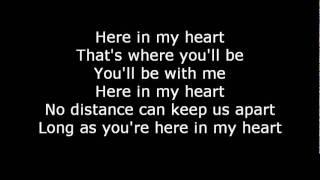 Scorpions Here In My Heart  Lyrics