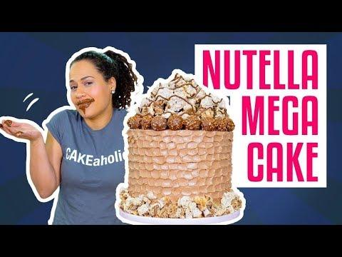 How To Make A MEGA NUTELLA CAKE   Hazelnut MERINGUE & BUTTERCREAM   Yolanda Gampp   How To Cake It