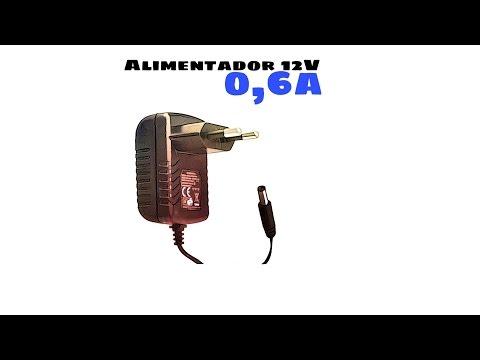 Video de Alimentador 12V  Negro 0.6A