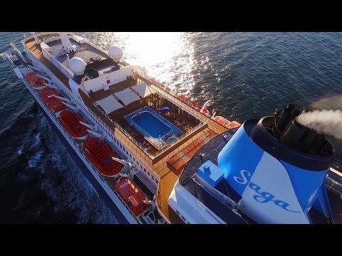 Saga Sapphire Valletta cruise DRONE chase / Norway 9.5.2016.